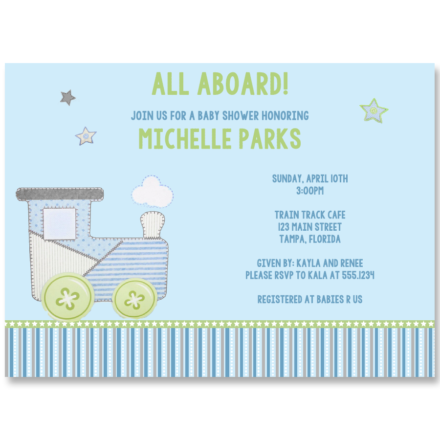Choo-Choo Baby Shower Invitation
