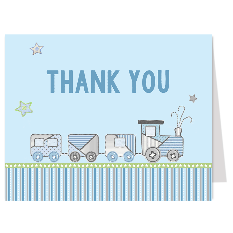 Choo-Choo Thank You Card