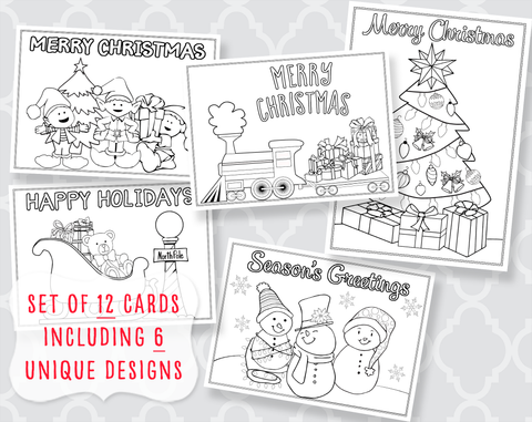 Color Me Joyful Christmas Set of 12
