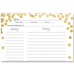 Confetti Bridal, Black and Gold, Bridal Shower Invitation