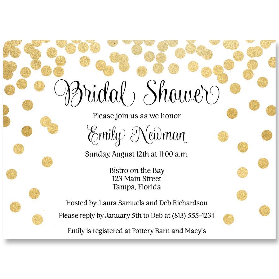 Confetti bridal black and gold bridal shower invitation the confetti bridal black and gold bridal shower invitation filmwisefo
