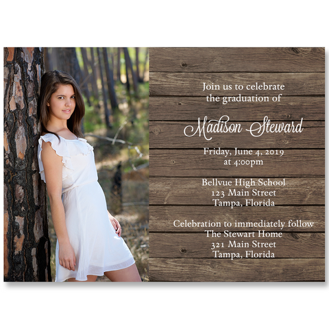 Country Graduation Invitation