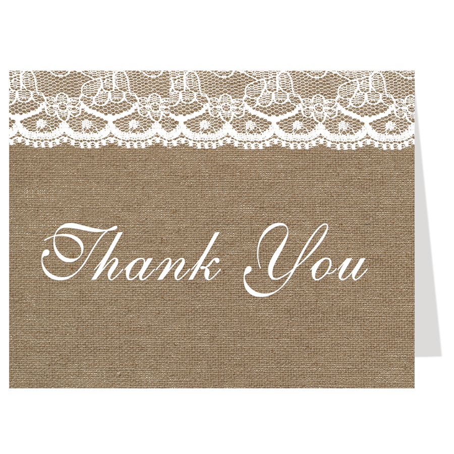 Country and Lace Graduation Thank You Card