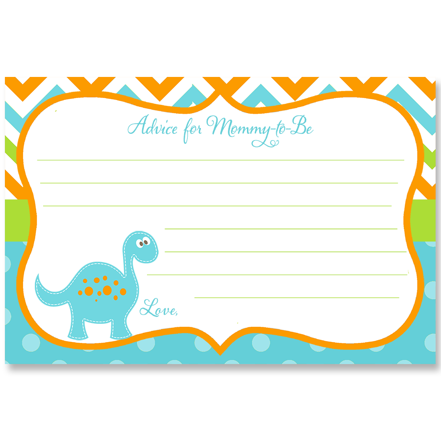 Dino Baby Blue Advice Card
