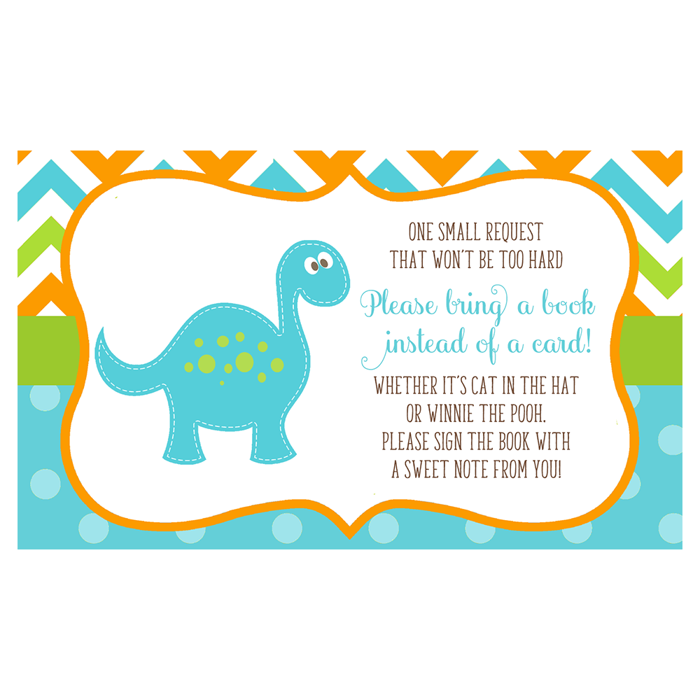 Dino Baby Blue Book Insert Card
