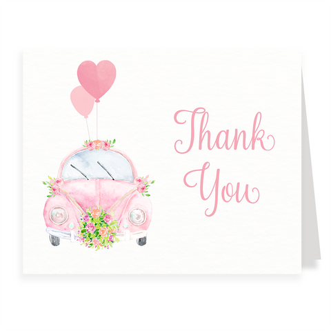 Drive By Bridal Shower Thank You Card