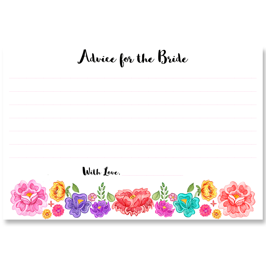 Fiesta Advice for the Bride Card