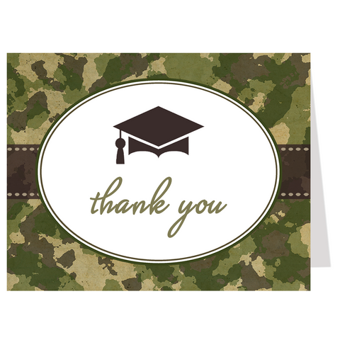 Camo Graduation Thank You Card