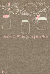Hanging Mason Jars Bridal Shower Invitation