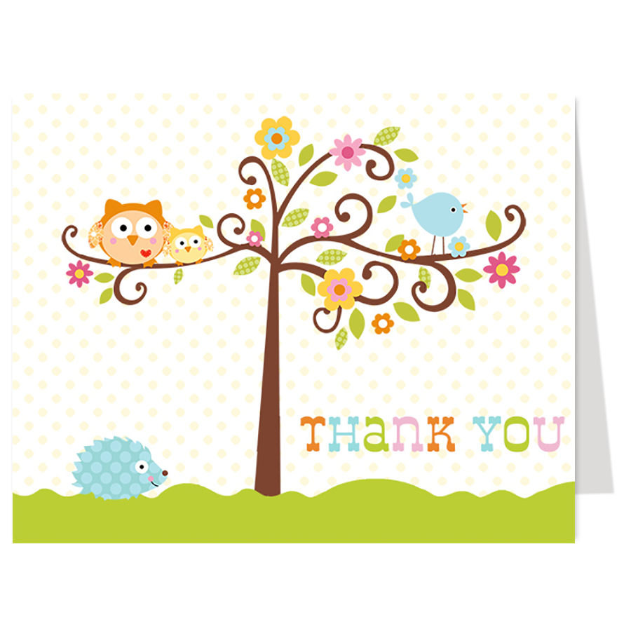 Happi Tree Thank You Card