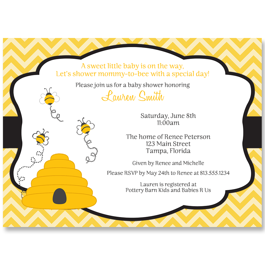 Hives and Bees Baby Shower Invitation