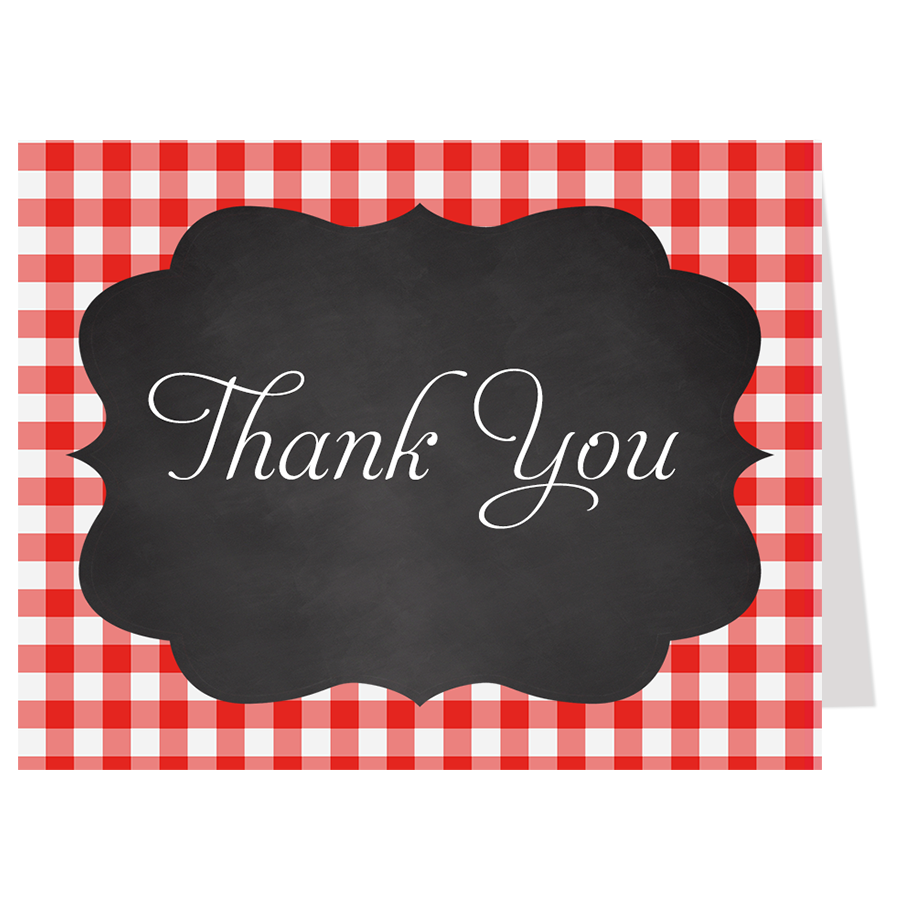 Say I Do BBQ Gingham Thank You Card