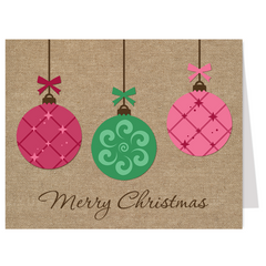 Joyful Ornaments, Christmas Card