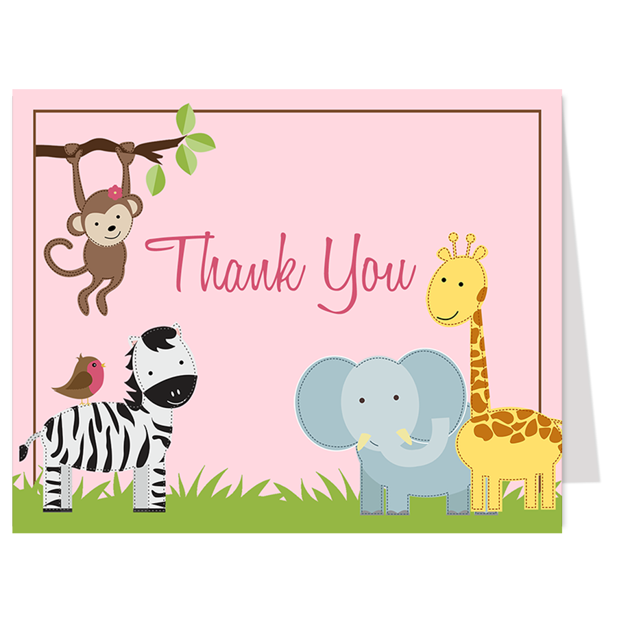 Jungle Jill Thank You Card