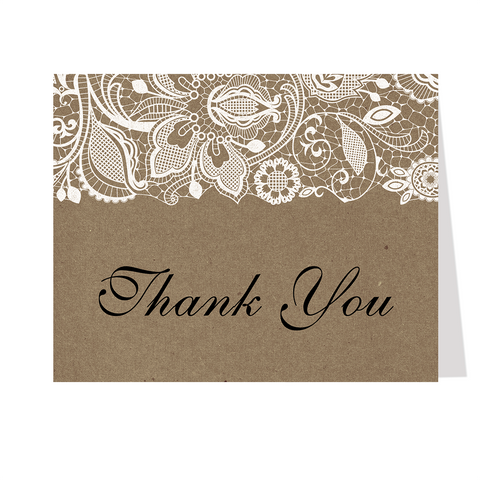 Kraft and Lace, Thank You Card