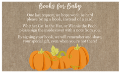 Lil Pumpkin Baby Shower Invitation