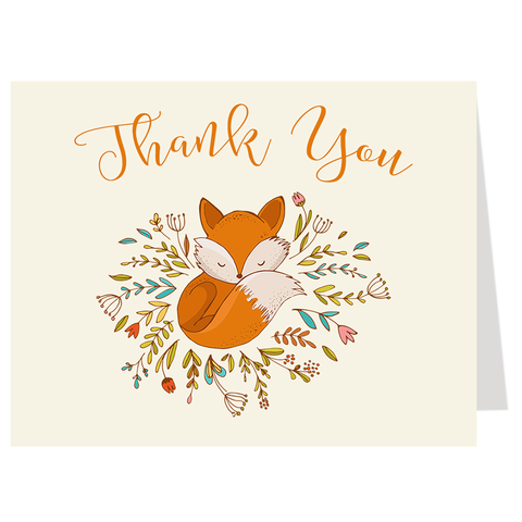 Little Fox, Thank You Card