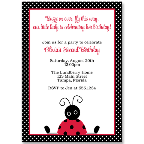 Little Lady Birthday Invitation Card
