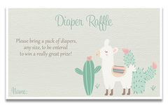 Little Llama Pink Baby Shower Invitations