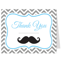 Little Man Thank You Card