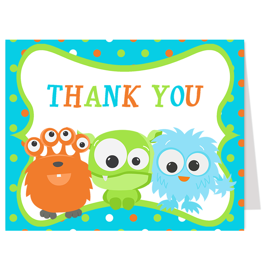 Little Monster Thank You Card