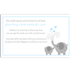 Little Peanut Blue Baby Shower Invitation