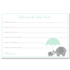 Little Peanut Mint Baby Shower Invitation