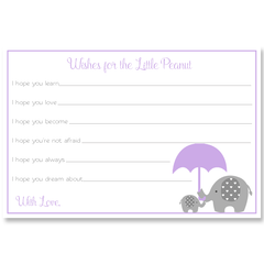 Little Peanut Purple Baby Shower Invitation