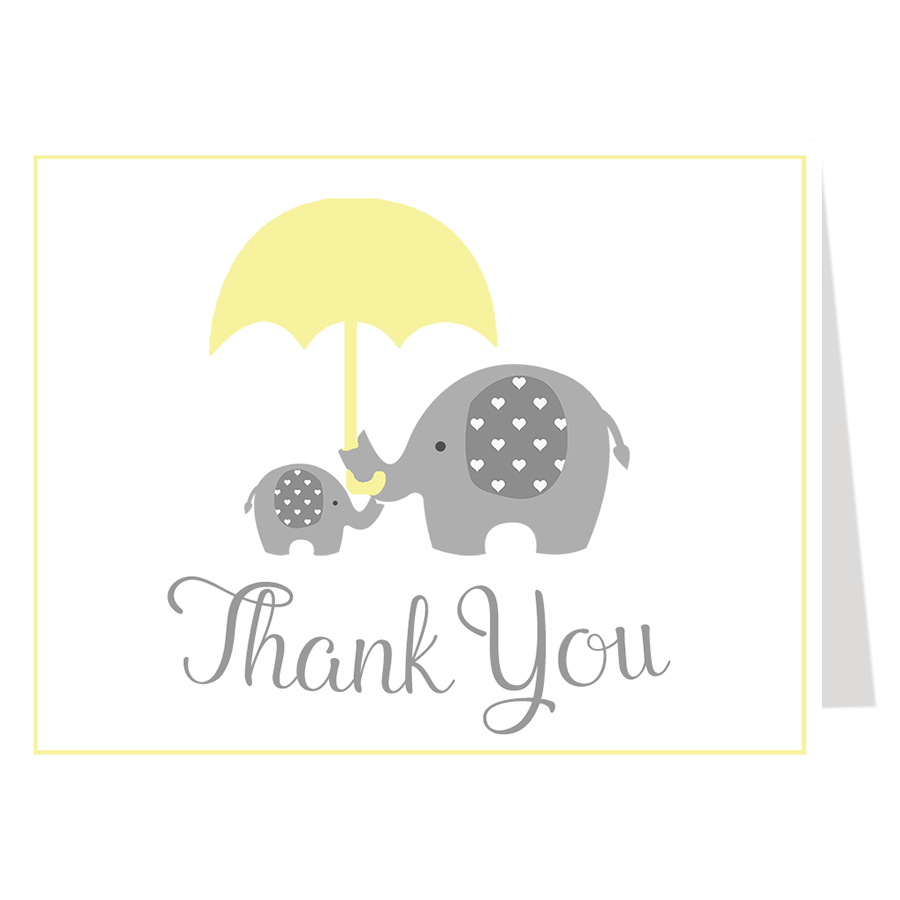 Little Peanut Yellow Thank You Card