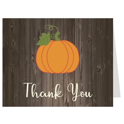 Country Pumpkin Baby Shower Thank You Card