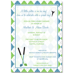 Little Putter Baby Shower Invitation