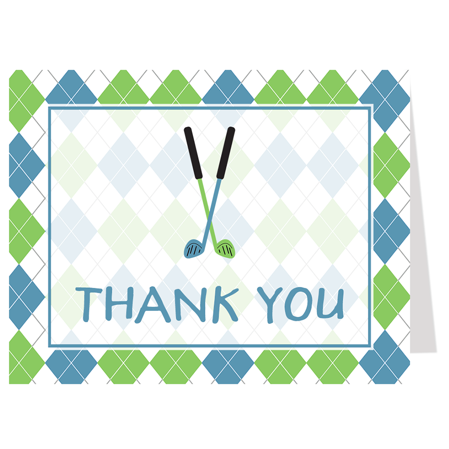 Little Putter Thank You Card