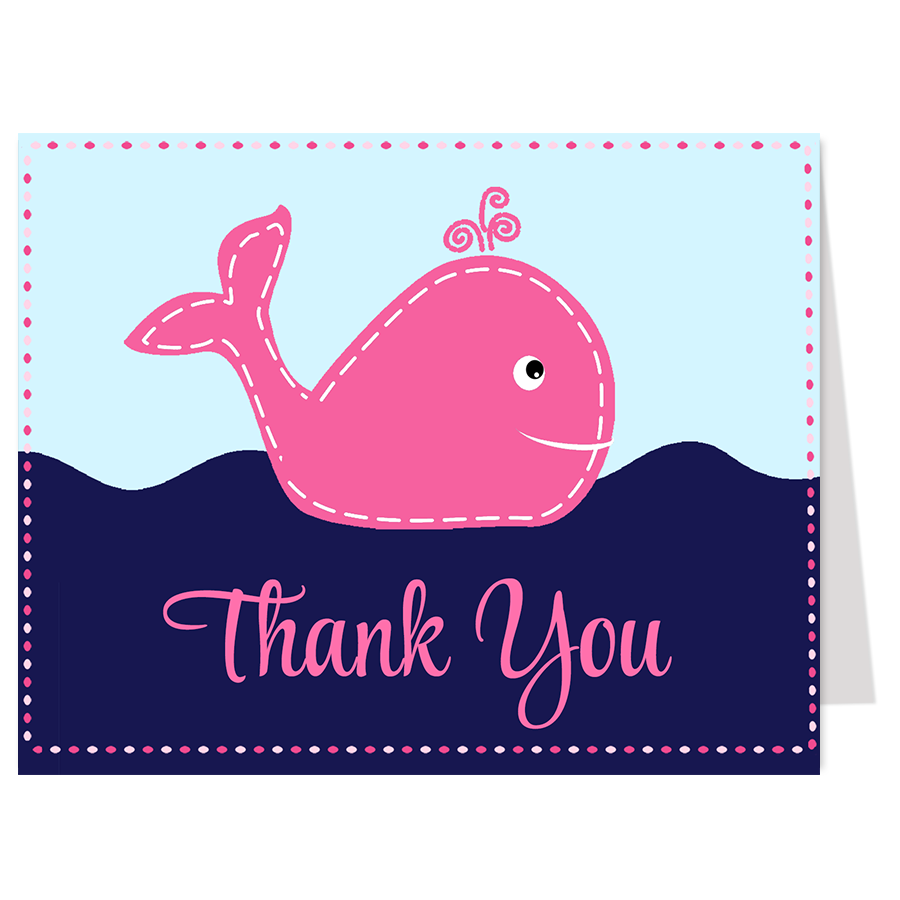Little Squirt Pink Thank You Card