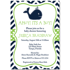 Little Squirt Green Baby Shower Invitation