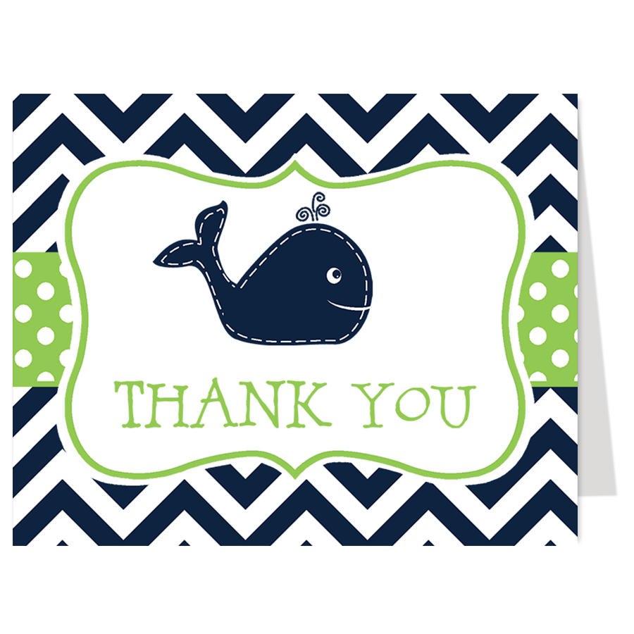 Little Squirt Green Thank You Card