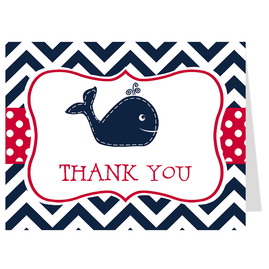 Little Squirt Red Thank You Card