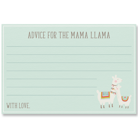 Llama Llama Baby Mama Mint Advice Cards