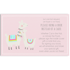 Llama Llama Baby Mama Pink Baby Shower Invitations