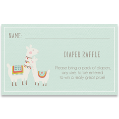 Llama Llama Baby Mama Mint Baby Shower Invitations