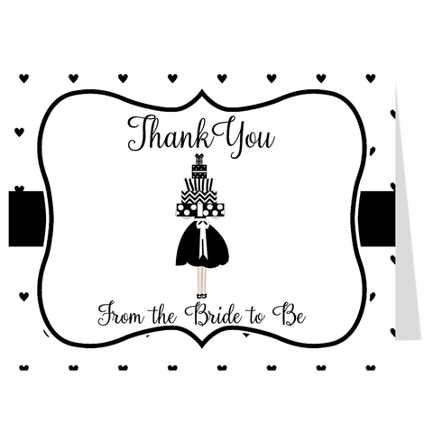 Lots of Love Black Thank You Card