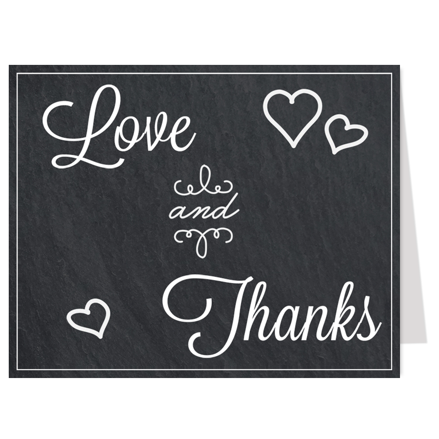 Love and Thanks Thank You Card