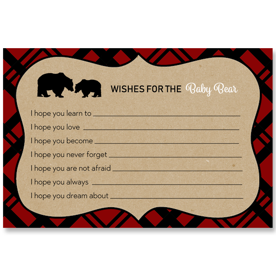 Lumberjack Red Wishes Card