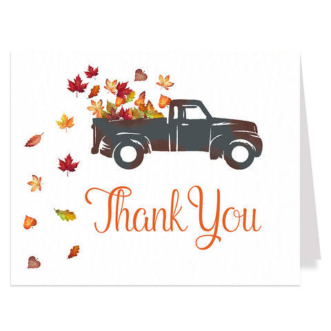 Rustic Truck Drive By Bridal Shower Thank You Card