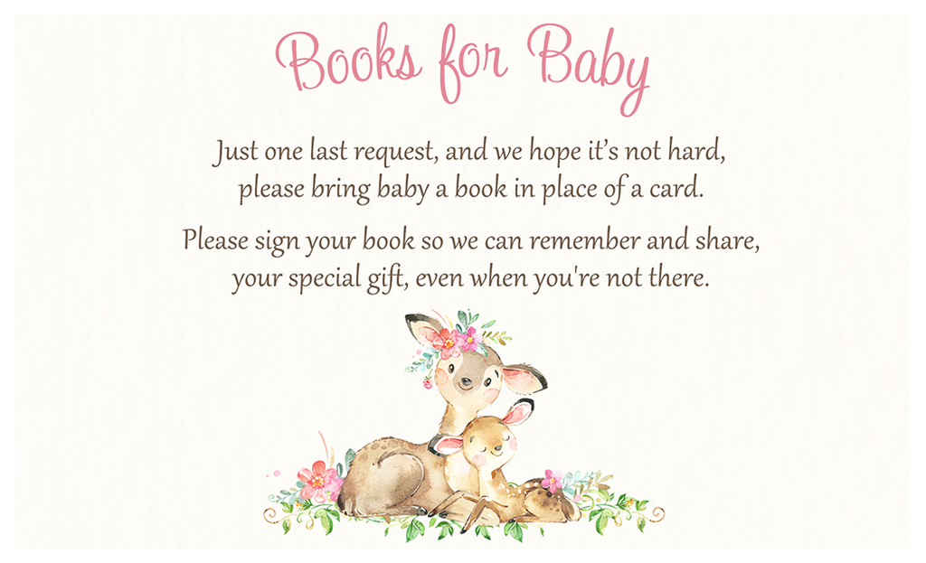 Mommy and Me Deer Baby Shower Book Insert