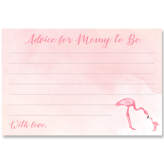 Mommy And Me Flamingo Baby Shower Invitation