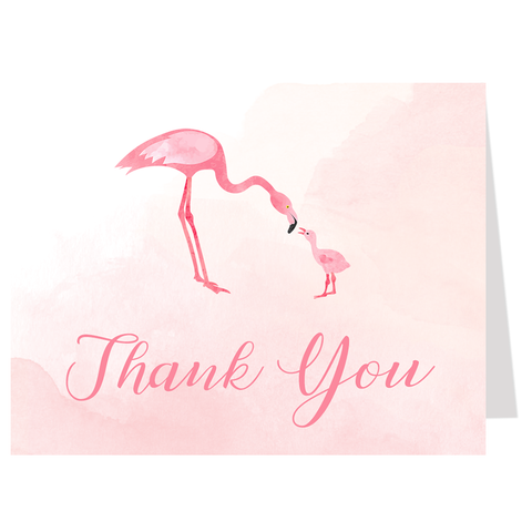 Mommy And Me Flamingo Thank You Card
