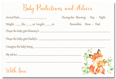 Mommy And Me Fox Invitation