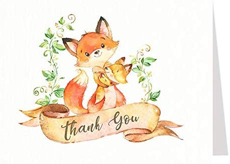 Mommy And Me Fox Thank You Card
