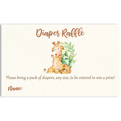 Mommy And Me Giraffe Invitation