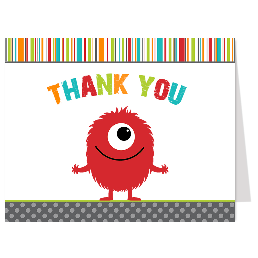 Monster Bash Boy Thank You Card